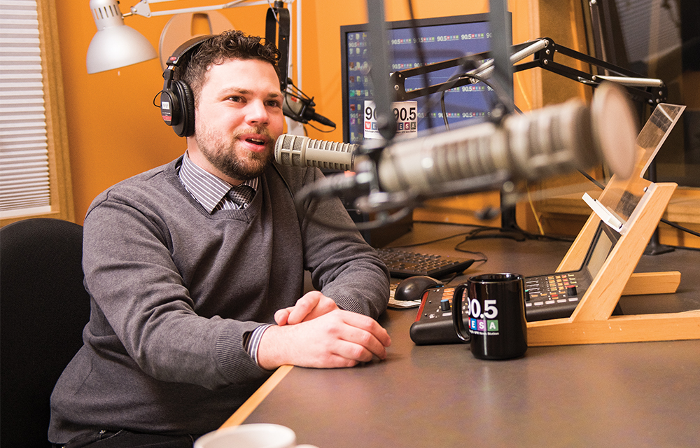 Christopher Ayers hosts one of WESA's many program offerings, NPR's All Things Considered.